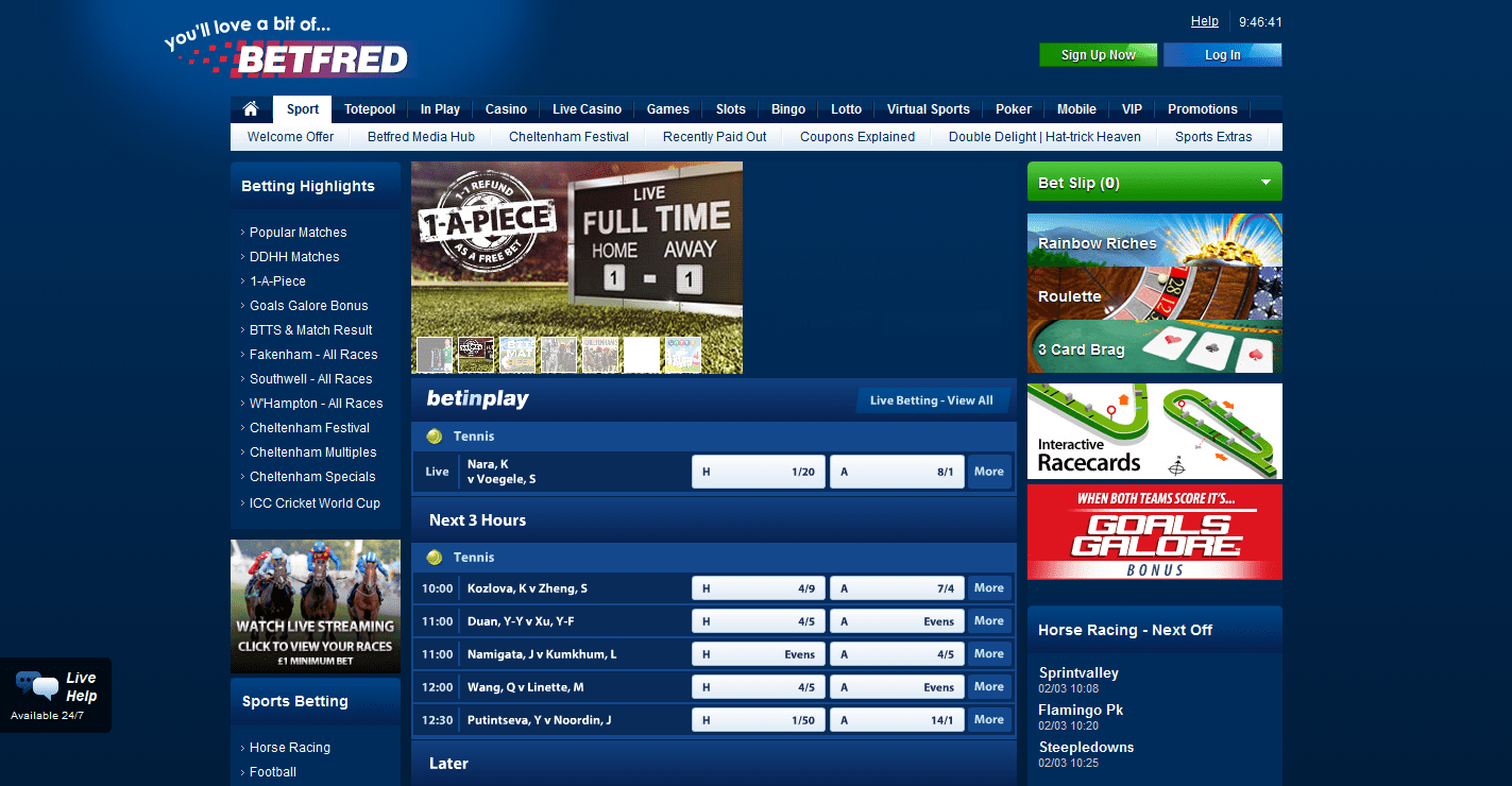 betfred зеркало